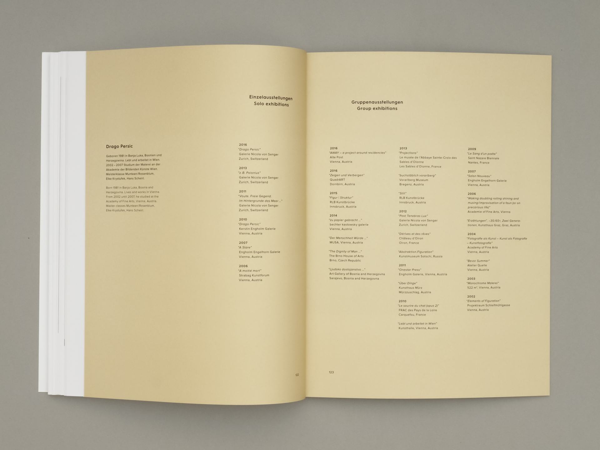 Grafikum Drago Persic artist catalogue